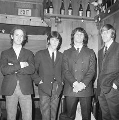 Doors, 1966, California, Los Angeles, Whisky a Go Go, L-R: Robbie Krieger, Ray Manzarek, Jim Morrison, John Densmore. (Photo by Michael Ochs Archives/Getty Images)