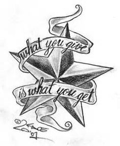 Cool nautical star tattoo design