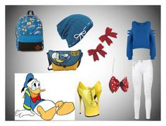 """Every-day Daffy Duck"" by jessgray-jg on Polyvore featuring Frame Denim, WearAll, Keds, Natures Jewelry and Vans"