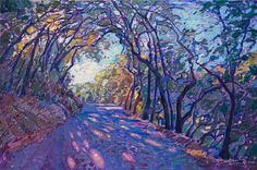 Paso Robles wine country-inspired oil painting by modern impressionist Erin Hanson.