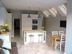 The London Kitchen Extension Co. - Photos from Recent Projects . Kitchen Family Rooms, Living Room Kitchen, New Kitchen, Kitchen Decor, Living Rooms, Kitchen Ideas, Kitchen Layout, Kitchen Design, Extension Veranda