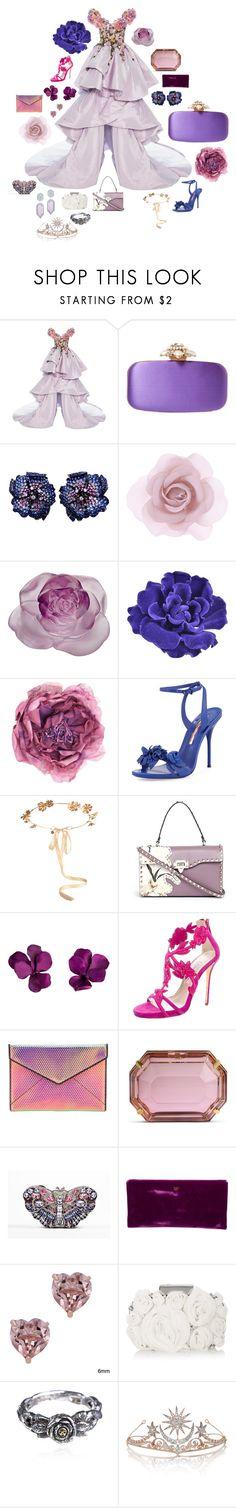 """flower princess"" by drb907 ❤ liked on Polyvore featuring Marchesa, Oscar de la Renta, La Fleur Jewels, Accessorize, Daum, Chanel, Gucci, Sophia Webster, Eugenia Kim and Valentino"