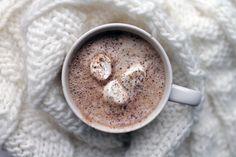 #chaga hot chocolate with organic marshmallows