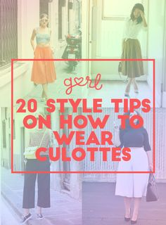 20 Style Tips On How To Wear Culottes