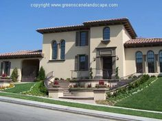 light paint color with dark trim for house tile roof   Exterior paint color suggestions for Mediterranean-style home? - Paint ...