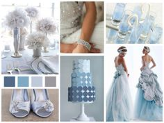 Ice blue winter wedding inspiration