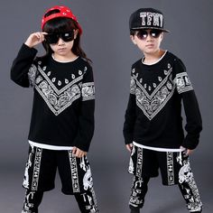 28.80$  Watch more here - http://ai3w9.worlditems.win/all/product.php?id=32791473118 - 2017 Children's Set Cotton Child Boy Costume Jazz Dance Performance Hip Hop Sets Girls Dancing Sets Tide
