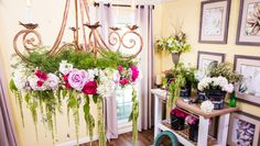 DIY Wedding Flower Chandelier