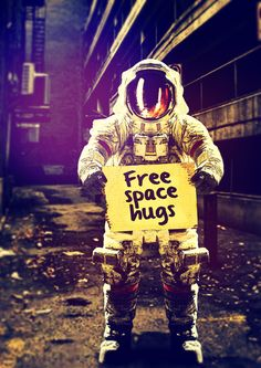 Poster | SPACE HUGS von Rubbishmonkey | more posters at http://moreposter.de