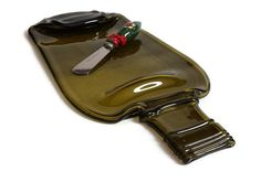 Large Wine bottle cheese tray flat wine bottle cheese by RayMels