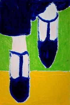 Untitled Sketch Spring/Summer 2015, a Pastel on Paper by Emanuela Di Filippo from United Kingdom. It portrays: Fashion, relevant to: paper, pastel, women, blu, green, love Untitled 2015