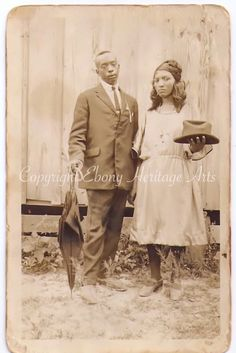 Vintage Photo - African American - Black Americana couple