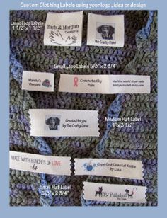 Custom clothing labels using your logo or artwork for your Shop or Personal sew in eco-friendly cotton labels Personalized Labels, Custom Labels, Custom Clothes, Custom Shirts, Modern Tailor, Fabric Labels, Sewing Labels, Bespoke Clothing, Diy Ribbon