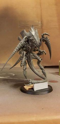 Warhammer 40k Tyranids, Monster Concept Art, Painting Process, Paint Schemes, Aliens, Warriors, Bugs, Sculpting, Modeling