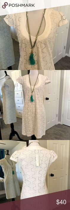 NWT Trina Turk White Eyelet Dress. Size 4 Gorgeous NWT Trina Turk white dress. Could be used as a swim cover up. Runs true to size. Make an offer. Excellent condition from non-smoking home. Make an offer!! Trina Turk Dresses