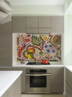 Creative Colors kitchen backsplash