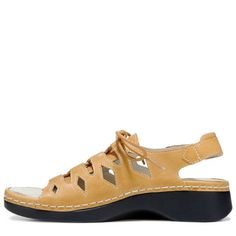 bc3f25d60de Propet Women s Ghillie Walker Medium Wide X-Wide Lace Up Sandals (Tan  Leather)