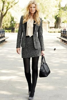 Our Favourite Winter Outfits for Work Chics (love the tweed, traditional look)