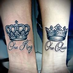 King and Queen Crown Tattoos