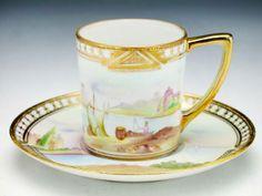 old noritake teacups Coffee Cups And Saucers, Cup And Saucer, Turkish Coffee Cups, Antique Tea Cups, China Tea Sets, Tea Service, Noritake, Vintage Tea