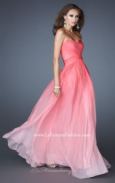 Pink obmre bridesmaids dress