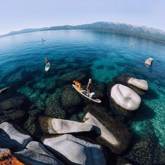 """""""Photo of the Day! When the conditions on #LakeTahoe are perfect, the water beckons. #: @matnelson How do you capture a beautiful day? Share it with us by…"""""""