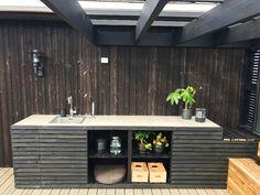 Outdoor Life, Outdoor Living, Outdoor Decor, Outdoor Kitchen Design, Outdoor Kitchens, Summer Kitchen, Back Gardens, Lounge, Garden Inspiration