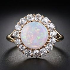 Opal and diamonds