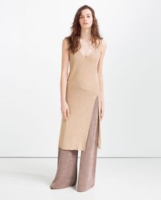 LONG TOP WITH SLIT from Zara