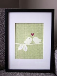Free printable love bird art. - FUN print!