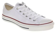 Converse Chuck Taylor All Star Ox Low Optical White SMU Leather Trainer Shoes