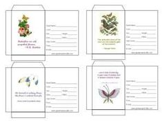 Lots of free printable seed packet templates that allow you to fill in the seed information before printing