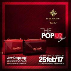 """""""Let the others have the charisma, we've got the class"""". We're back again with the Jaw-Dropping class for you all this February. #Serendipity #Take10 #ThePopUpShow #LifestyleExhibition #JawDropping #Class #Exclusive #Fashion #Style #Luxury #Elegance #Shopping #BookingsOpen"""