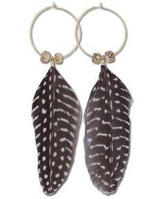 SoulFlower-NEW! Guinea Feather Earrings-$16.00 #liviniseasy @Shalika Martin Flower