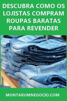 Está procurando roupas baratas para revender? Descubra aqui as melhores formas de conseguir roupas por um preço baixo. Existem fornecedores que fornecem roupas a partir de R$ 3 Reais para revenda. #roupas #atacado #negocio #calça #calçajeans