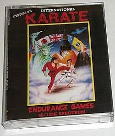 Interantional Karate cassette case ZX Spectrum (1986)
