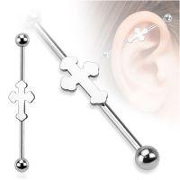 Industrial piercing sierlijk kruis