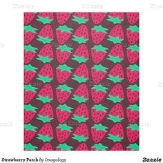 Strawberry Patch Fleece Blanket