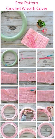 Free easy Crochet Wreath Cover available in English and Spanish.