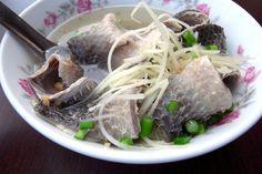 milkfish skin soup  #Taiwanese food 虱目魚皮湯