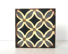 Lotus Leaf Geometric Pattern 5x5 art block by redtilestudio  $28.00