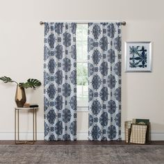 Eclipse Olivia Thermaweave room-darkening window curtain panel