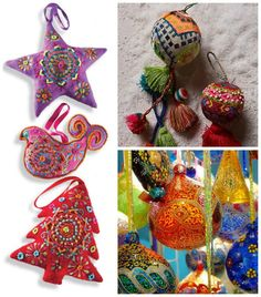 Quirky Bohemian Christmas Decoration Inspiration