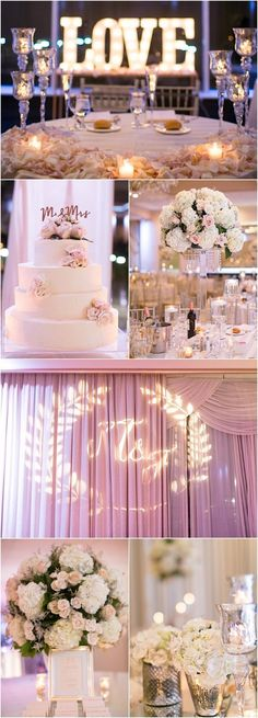 Blush pink and white ballroom wedding reception idea; featured photographer: Amy Rizzuto #PinkWeddingIdeas