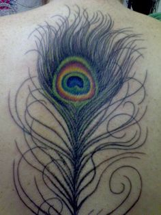 Peacock Feather Tattoo by theotherway, via Flickr