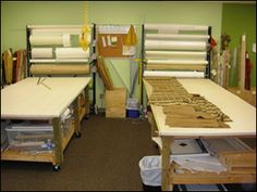 Work tables and racks for rolled goods / Donna Skufis