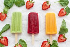 3 Fruit and Veggie Popsicles