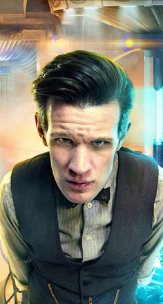 Eleven back when he still had eye brows, hair and an orange TARDIS interior. I like browless, bald silver-punk 11 better!