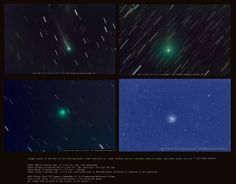 2013 Oct 25: Four comets (S/ISON,, Encke, Lovejoy, LINEAR (X)).  imaged by Joh Chumack, Ohio.