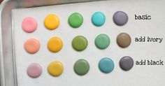 How adding black or ivory can turn five colors into fifteen--good to know!